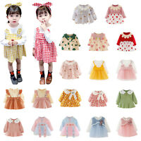 Autumn Baby Girls Clothes Dress Kids Clothing Skirt Infant Toddler Party Dresses