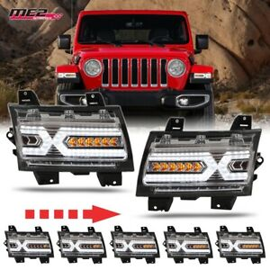 Renegade Fits Jeep Wrangler JL/Gladiator 2018+ X-LED DRL Sequential Turn Signals