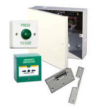 Simple Lock Release Door Entry Kit, PSU, Lock Timer, Exit Switch, Call Point