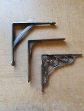 Vintage old Industrial Warehouse Rustic Cast Iron Shelf Bracket Shelf support