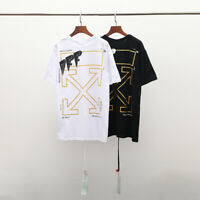 "NeW OFF WHITE 19SS ""SPECIAL EDITION"" T-Shirt Tide brand hot gold arrow TEE"