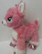 "New ListingBuild a Bear Twinkle Deer Pink Reindeer Stuffed Animal Plush Sparkle 15"" tall"