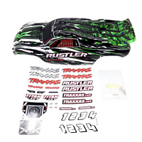Traxxas Rustler Body Green White black Painted VXL XL5 3715 NEW
