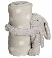 New Snuggle Pets - Grey Bunny with Blanket