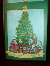 NEW BOXED LANG Susan Winget 8 CT CHRISTMAS TREE CARDS with PEEL & STICK DECALS