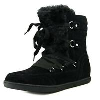size 7.5 G By Guess Ryla Black Mid Calf Winter Boots Womens Shoes NEW