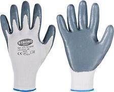 12er PACK Paar STRONGHAND 520 Handschuhe Finegrip Gr.11 schwarz Nylon mit Schru
