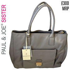 Paul and Joe Bag Leather Sister Grey Hervey Sac Large Shoulder Handbag