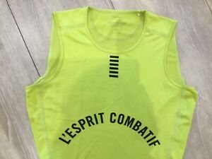 Ladies Rapha Pro Team Base Layer Neon Yellow Sleeveless Cycling Top size S