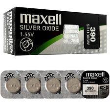 5 x Maxell 390 Silver Oxide batteries 1.55V SR1130SW 389 SR54 Watches 0% Mercury