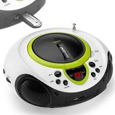 Tragbarer CD-Player MP3 USB Anschluss Radio Tuner AUX LED Lenco SCD-38 USB grün