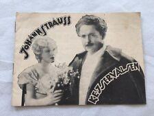 Johann Strauss Hofkapellmeister Michael Bohnen Parry 1932 Danish Movie Program