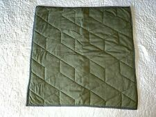 Pottery Barn Kids Jersey Euro Quilted Sham Pillow Cover 26 x 26 inch Olive EUC!