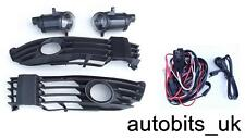 FOG LIGHTS LAMPS GRILL L&R FOR VW PASSAT 3BG 3B3 3B6 B5 B5.5 00-05 + WIRING KIT