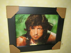 Sylvester Stallone ; Rambo Excellent Hand Signed Photograph (8x10) Framed + CoA