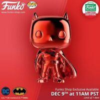 Funko Pop Red Chrome Batman Funko Shop 12 Days of Christmas Exclusive