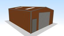 Steel Framed Buildings - Motorhome Garage - 7m x 9m x 3.4m Steel Boat Shed