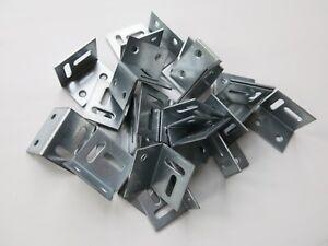 50 Galvanised Angle L brackets steel stretcher shrinkage plate 25mm x30mm x38mm