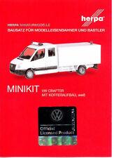HERPA MiniKit 1:87 PKW VW Crafter mit Kofferaufbau. weiß Bausatz #013185 NEU/OVP