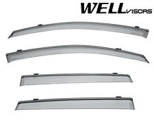 WellVisors Side Window Visors W/ Black Trim For 02-06 Suzuki Aerio SX 5Dr Wagon