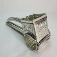 Vintage MOULI Rotary Hand Cheese Grater Yellow Handle Made in France