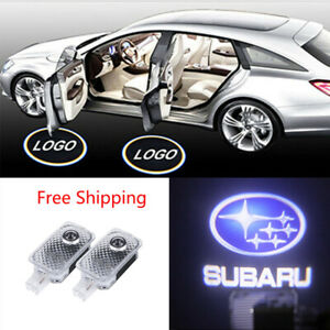 2X Logo LED Door Light Laser Projector for Subaru Forester Outback Legacy XV