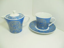 Multiple Choice Teapot Cup Saucer Blue White Porcelain Tea For One