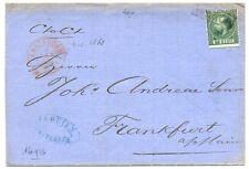 NEDERLAND 1868-1-4  LETTER AMSTERDAM  TO  GERMANY   NR# 10  ZEER VROEG !!   F/VF
