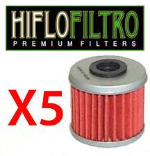 Lot de 5 Filtres a huile HONDA 250 450 CRF 2004 A 2010