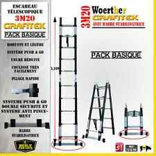 ESCABEAU 3 FONCTIONS WOERTHER - GRAFITEK 3M20/1M60 - PACK BASIQUE ( + LIVRAISON)
