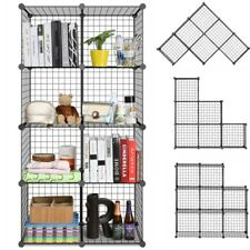 Storage Shelving Wire 8 Cube Rack Organiser Bookcase Cabinet Display Multi-Use