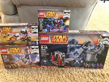 4 Lego Star Wars Death Star Final Duel Ezra's 75093 75090 75088 Sets NEW Big LOT