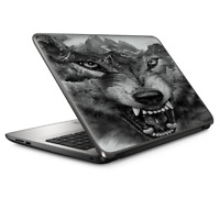 Laptop Skin Wrap Universal for 13 inch - Angry Wolf Growling Mountains