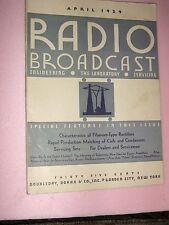"Vintage ""Radio Broadcast"" Magazine, April, 1929, American Radio Industry, Rare"