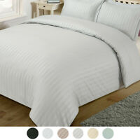 Striped Satin Duvet Cover Quilt Bedding Set With Pillowcases Single Double King