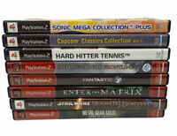 PS2 Game Lot Of 8: Sonic Mega Collection, Fantastic 4 & More See Desc For Titles