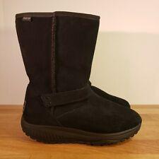 Sketchers Shape up Bollard black suede boots w faux fur lining - Women's 8.5