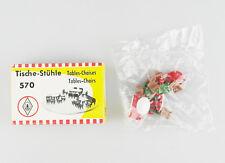 "FALLER Spur H0 570 Set ""Tische-Stühle"", OVP, top!"