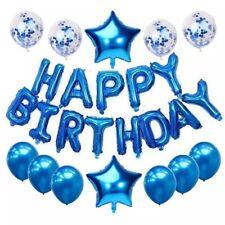 Happy Birthday Balloon BLUE Party Supplies Banner Balloons Decoration Set