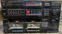Sherwood CTA-3 Stereo Double Cassette Tuner Amplifier Tested & Working!