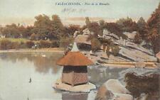 VALENCIENNES PARC DE LA RHONELLE FRANCE WW1 MILITARY FELDPOST POSTCARD (c. 1915)