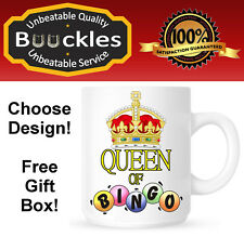 Bingo Queen of id rather be at Mug Personalised Gift Idea Birthday Present Cup