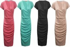 Polyester Short Sleeve Wrap Casual Dresses