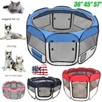 "36"" 45"" 57"" Pet Dog Cat Kennel Tent Puppy Playpen Exercise Portable Crate Cage"