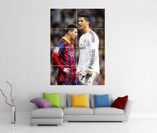 Messi e ronaldo POSTER GIGANTE Wall Art Poster Print Foto Photo POSTER