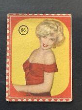 1950 Sticker Attori Cinema Marylin Monroe #66 Nannina Card Italy New Very Rare