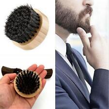 Natural Boar Bristle Beard Brush Moustache Round Wood Handle Mens Beard Brush S