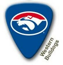 Western Bulldogs Guitar Picks 5 Pack, Official AFL Product