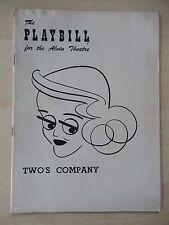 December 1952 - Alvin Theatre Playbill - Two's Company - Bette Davis - Sherman