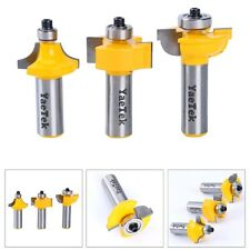 "3 Bit Glass Door Router Bit Set - Round-Over Bead - 1/2"" Shank US FREE SHIPPING"